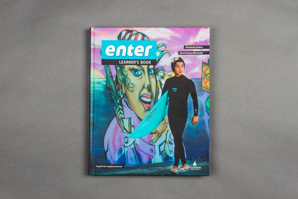 Forsiden til en engelskbok for ungdomstrinnet. 9.klasse. Foto.