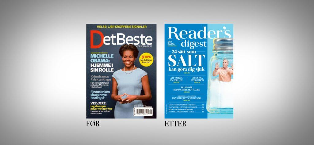 To magasinforsider med ulike fonter. Foto.