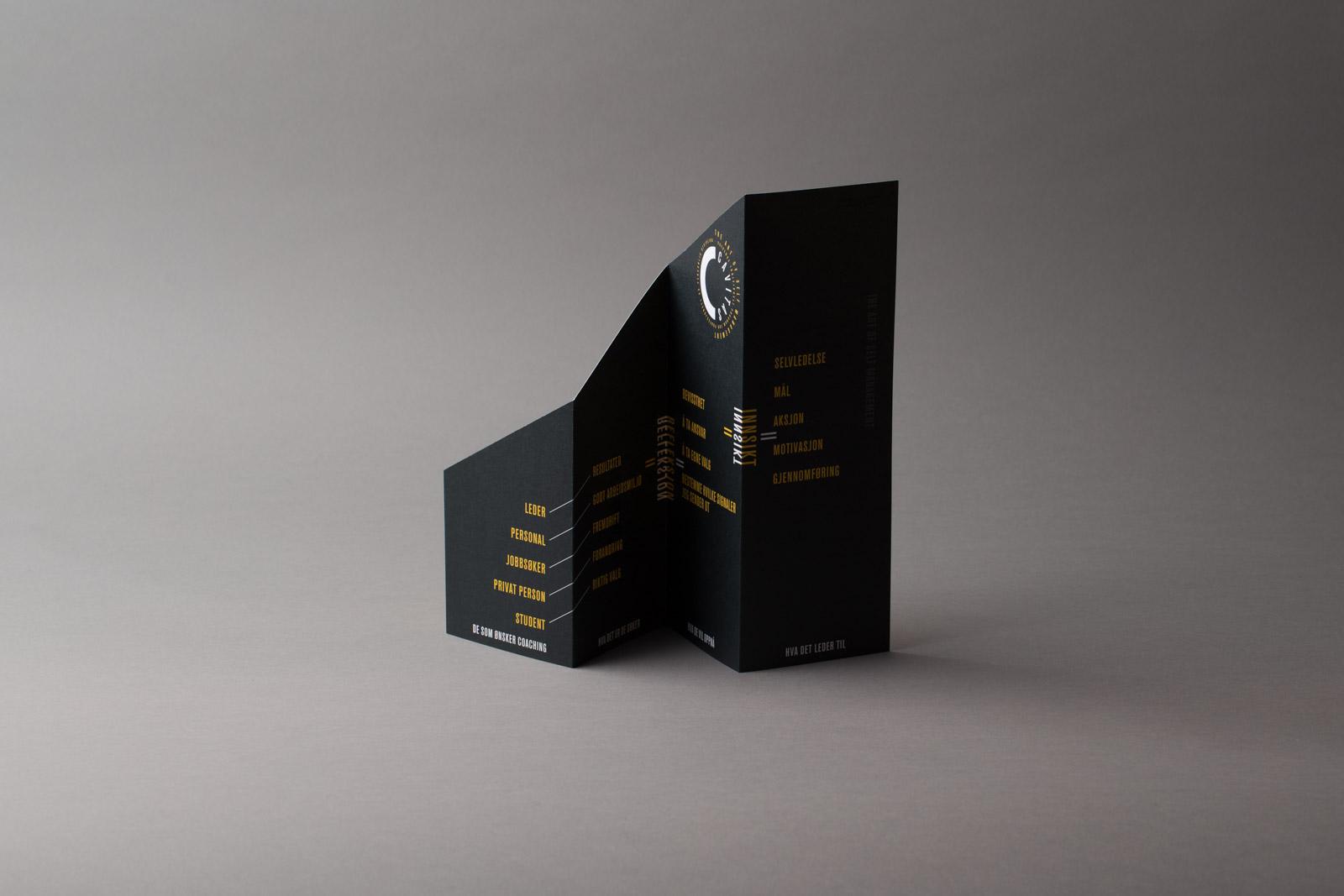Brosjyre med utstansing (Cavitas)