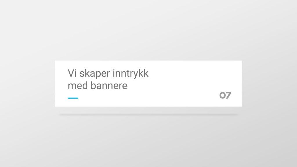 Et enkelt hvitt banner med 07 sin profil. Illustrasjonsbilde.