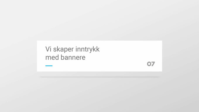 Et enkelt hvitt banner med 07 Media sin profil. Illustrasjonsbilde.