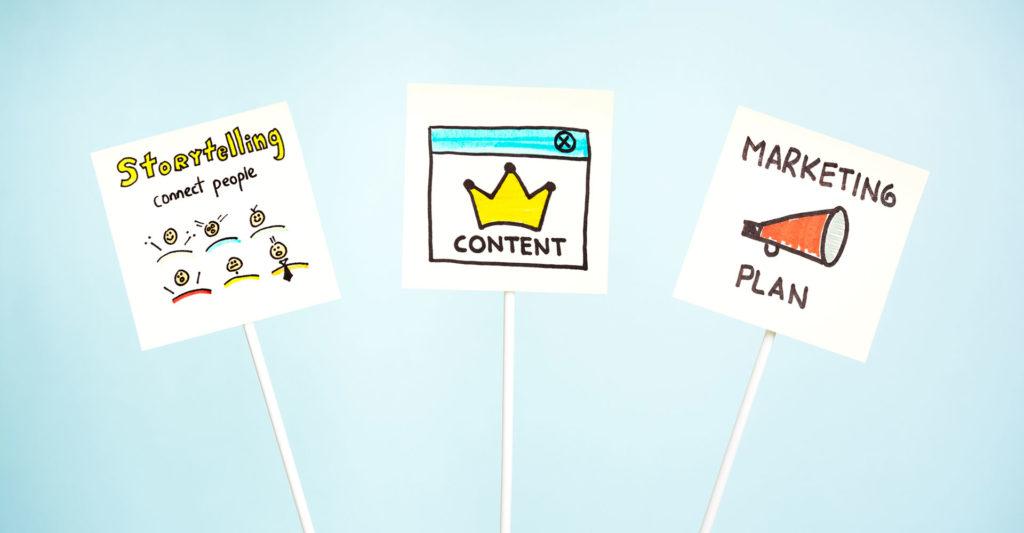Stockbilde med skisserte symboler for markedsføring. Illustrasjon.