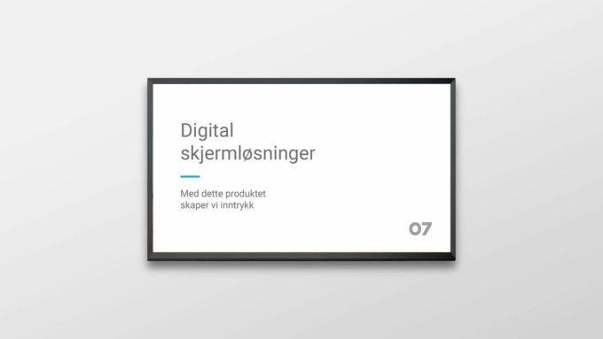 Digitale skilt som skal vise flaten til en digital skjermløsning. Illustrasjonsbilde.