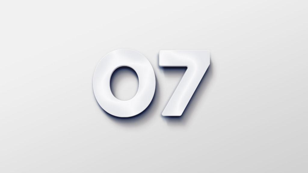 07s logo som lysskilt. Illustrasjonsbilde.