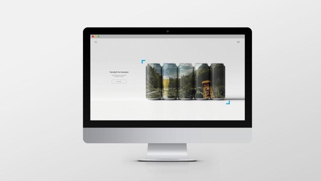 En dataskjerm med visning av en nettside. Illustrasjonsbilde.