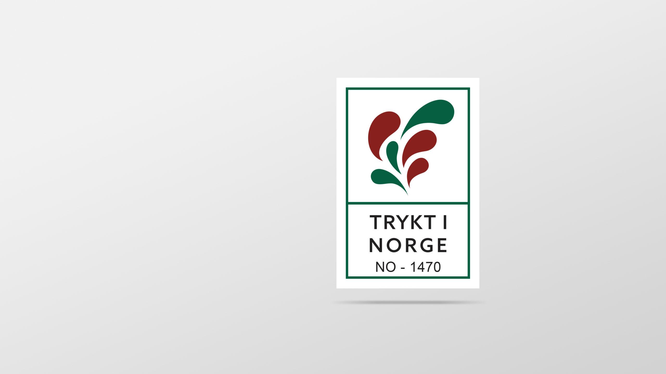 Logoen til Trykt i Norge. Illustrasjon.