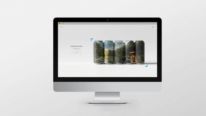 En dataskjerm med visning av et webdesign. Illustrasjonsbilde.