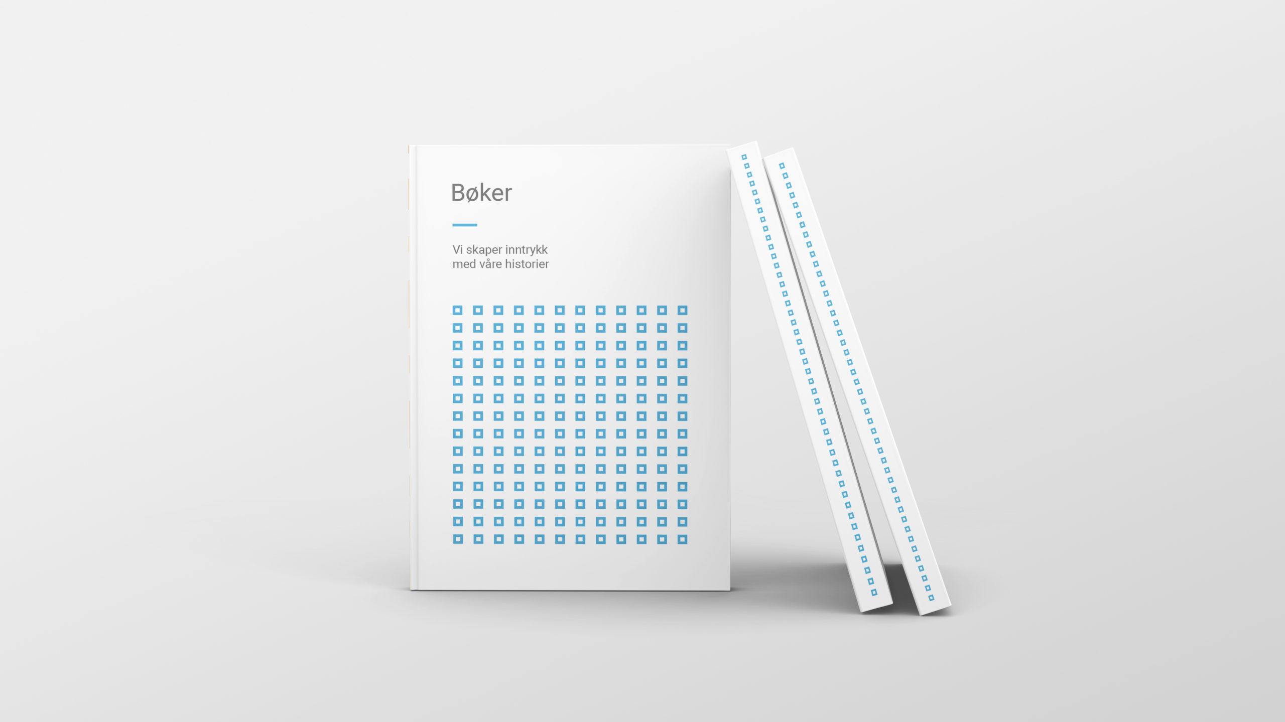 Tre bøker med 07 sitt design på forsiden og på bokryggen. Illustrasjonsbilde.